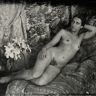 Nude  No. 5 by Henryk Parvese. Contemporary metal collodion plate 7″x 5″.
