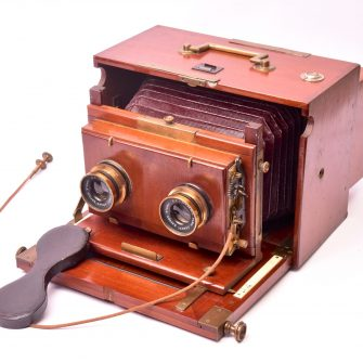 Chambre photographique stéréo coffret 13×18
