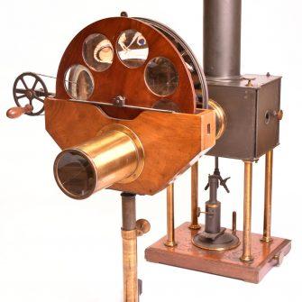 Lanterne Jules Duboscq avec son Phénakistiscope de Projection