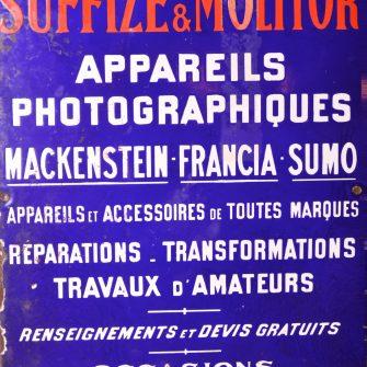 Plaque émaillée publicitaire Suffize & Molitor