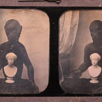 Daguerréotype stéréoscopique 8,5×17 cm