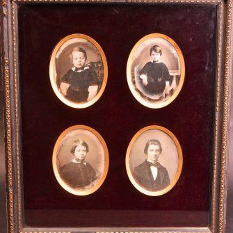 Portraits daguerréotypes présumés du même enfant à des âges différents