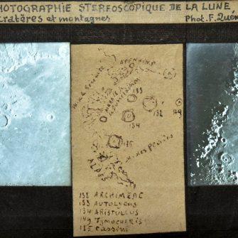 Photographie stéréoscopique de la lune par Ferdinand Quénisset