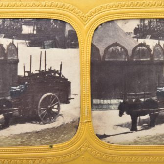 La fête de Montmartre 1860, série complète de 9 cartes