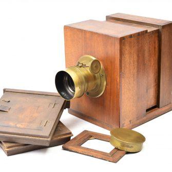 Chambre photographique quart de plaque à tiroir