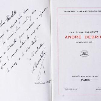 Brochure des Établissements André Debrie