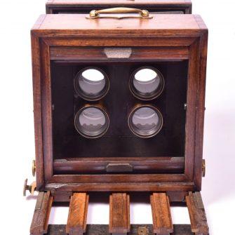 Chambre photographique collodion pour cartes de visite