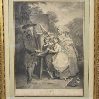 Gravure « The Show » 1787 Boite optique