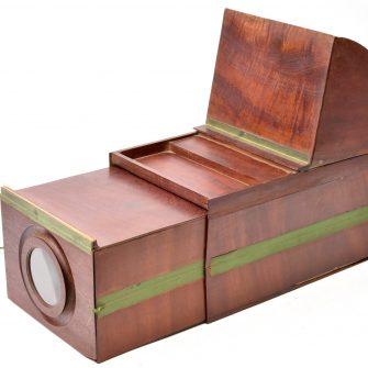 Camera Obscura pliable en bois XVIIIème