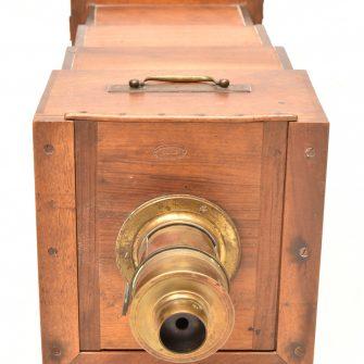 Chambre photographique Oudin à triple tiroirs