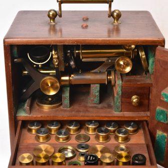 Microscope anglais fin XIXème