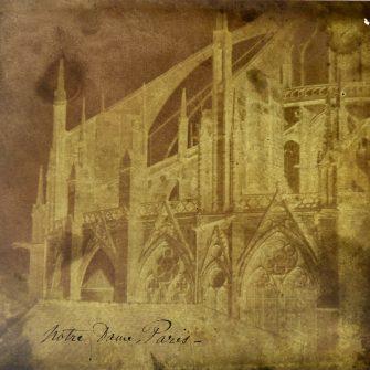 Calotype. Négatif papier. Notre Dame de Paris