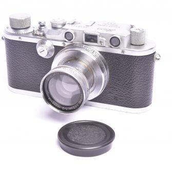 Appareil photo Leica IIIa, objectif Summar f/2 – 50mm.