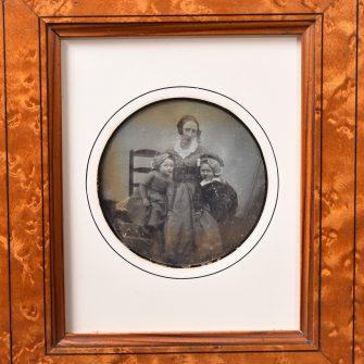 Daguerréotype circulaire ¼ de plaque 1845