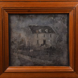 Daguerreotype primitif. Avant 1845.