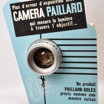 Présentoir automate publicitaire Camera Paillard-Bolex