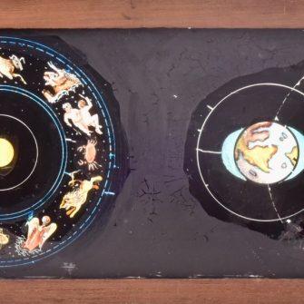 Série de 11 plaques pour lanterne magique sur le thème de l'astronomie
