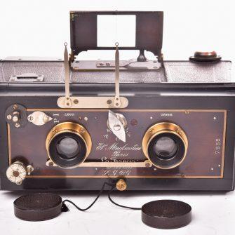 Stereo-panoramique camera Mackenstein la Francia avec dos film