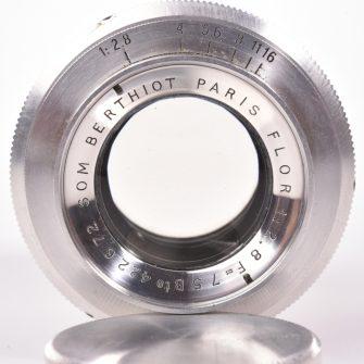 Objectif photographique Berthiot Flor 2.8 – 75mm.