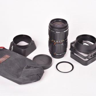 Objectif Angénieux zoom 2×35 f/2.5-3.3  –  35-70mm. #1476148. Monture Canon FD.