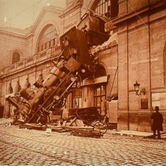 Accident ferroviaire, Gare Montparnasse, 1895
