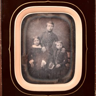 Daguerréotype Portrait d'enfants bourgeois par Trantoul