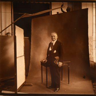 Vue stéréoscopique rare, Le Président Gaston Doumergue en 1924