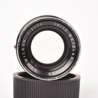 Leica Summicron noir 50 mm F2. Monture M.