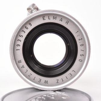 Objectif Elmar. 50mm f/2.8. Leica, mount M.