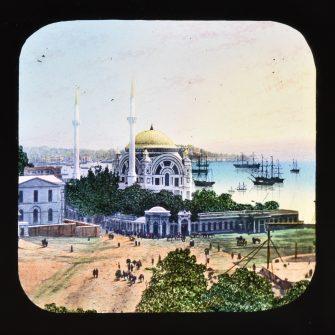 Lot de plaques de lanterne magique (x2), Sainte Sophie, Istanbul