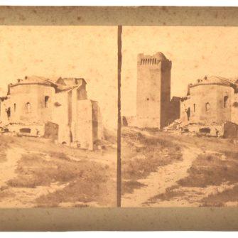 Edouard Baldus, Vue stéréoscopique, Ruines de l'Abbaye Montmajour à Arles