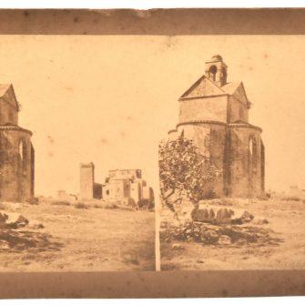 Edouard Baldus, vue stéréoscopique, Abbaye Montmajour, Chapelle Sainte Croix