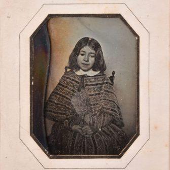 Daguerréotype quart de plaque, vraisemblablement post-mortem, 1845