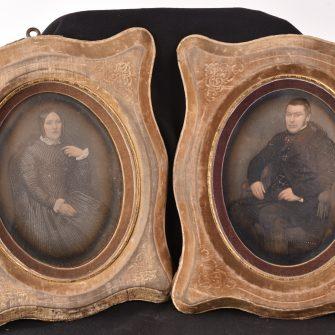 Daguerréotypes peints au format pleine plaque par Maucomble