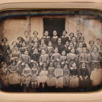 Daguerréotype demie plaque École de jeunes filles